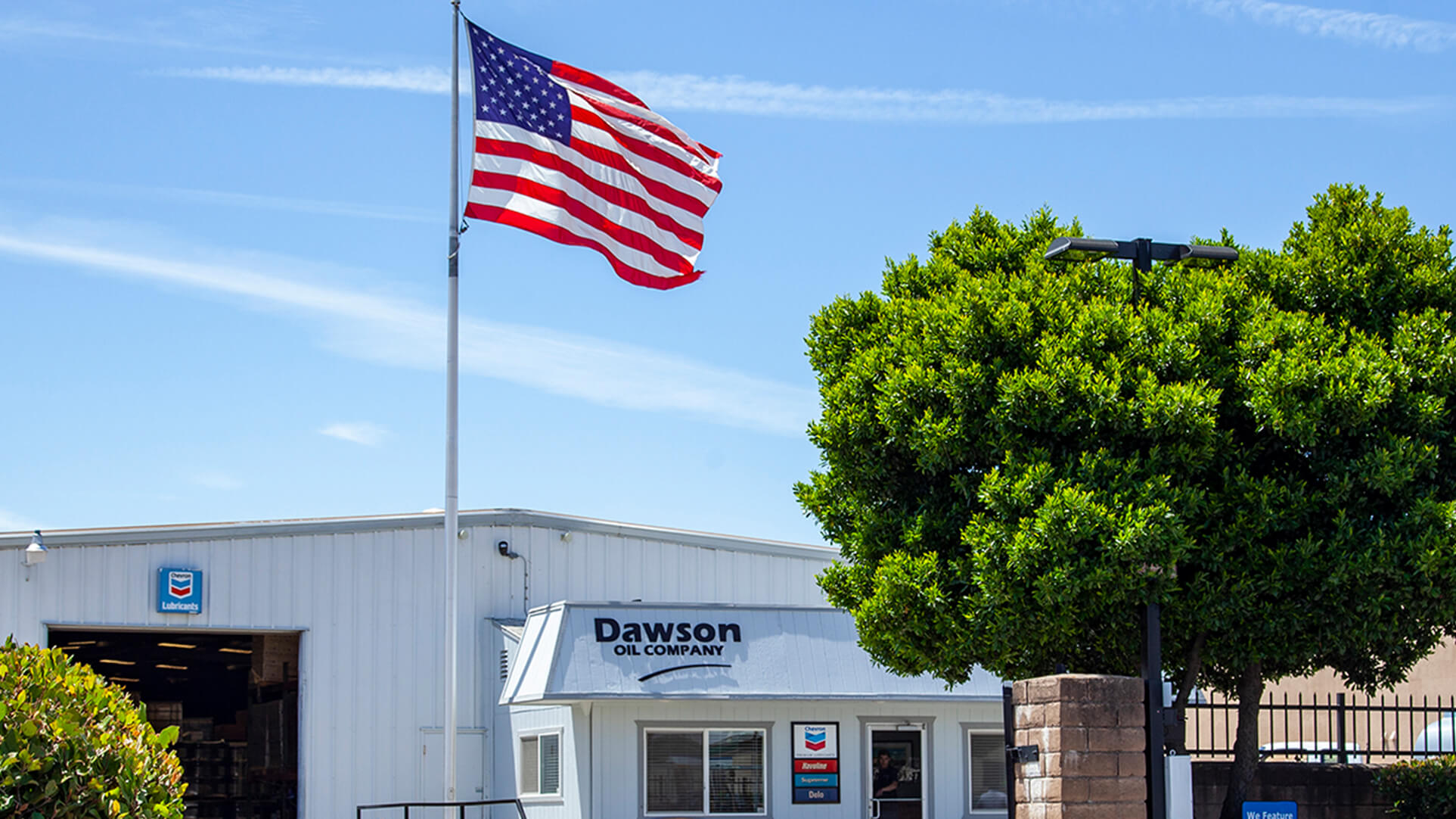 An image of the Dawson Oil location in Yuba City, California on Industrial Boulevard