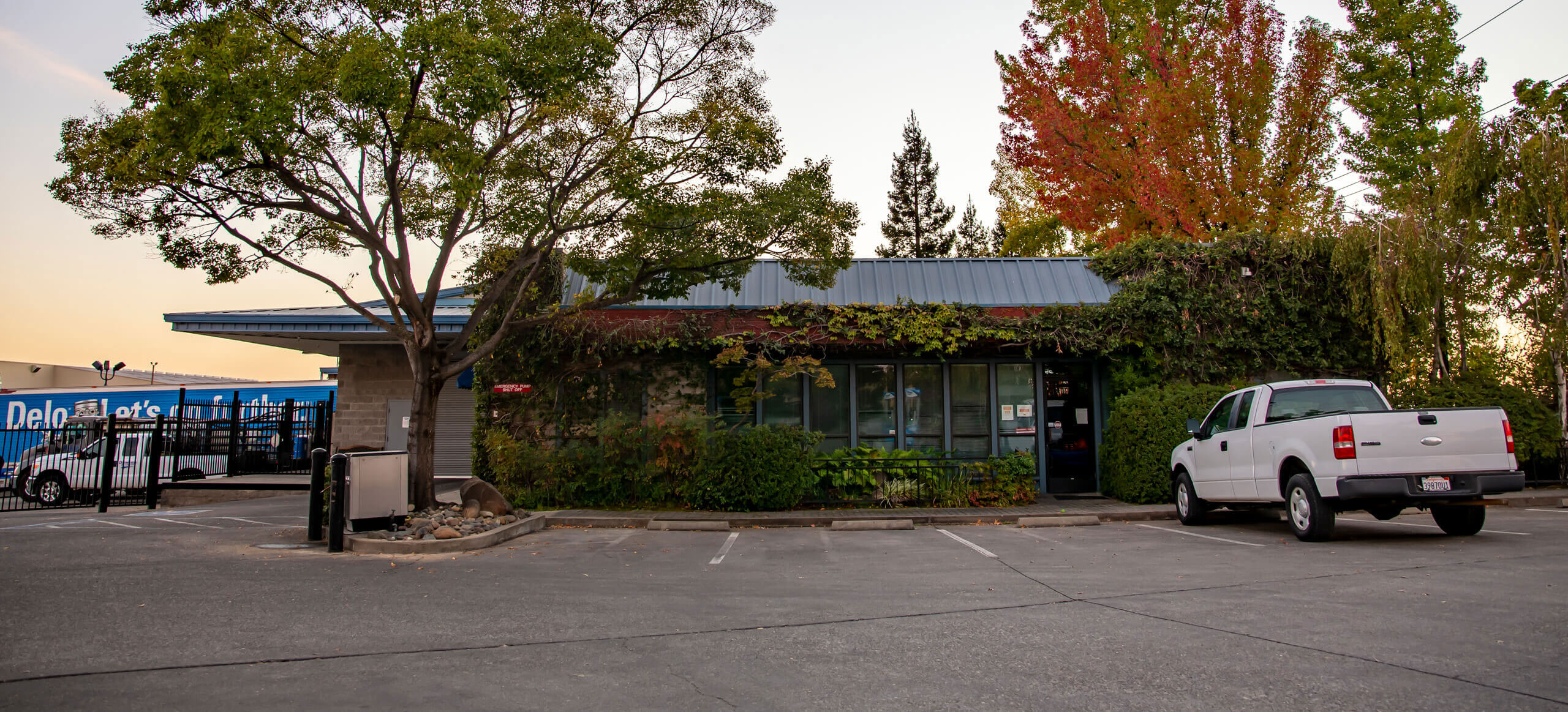 Our main business office is at 4325 Pacific Street, Rocklin, California. Oil is only sold by the case at this location. We offer a variety of fuel types.